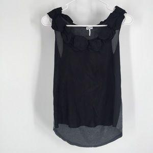 Splendid black gray sleeveless blouse small